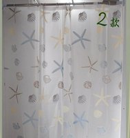 Wholesale The shower curtain super upset Waterproof mouldproof bathroom shower curtain set Bathroom partition shade curtain rings