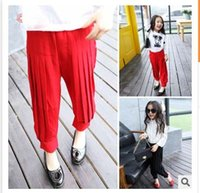 Wholesale Casual Dress Pant Legs - Girl Dress Ruffle Casual Trousers Child Clothes Kids Clothing 2016 Spring Casual Wear Kid Girls Pants Children Casual Pants Lovekiss C21311