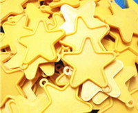 balloon pastel - STAR SHAPE PLASTIC WEIGHTS for helium foil balloons pastel yellow color