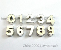 Wholesale 10pcs Sliver Number Floating Charms FC521 mm Fit Charms Locket Memory Living Magnet Glass Floating Locket
