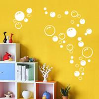 Wholesale Hot Orange Bubbles Wall Bathroom Tile Shower Art PVC Decal Sticker Decoration Decor