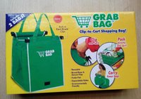 bag in box - Free Fedex Grab Bag Pack Reusable Ecofriendly Shopping Bag That Clips To Your Cart With Retail Box In Stock