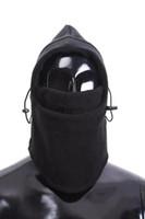 Wholesale Big sale Thermal Fleece in Motorcycle Balaclava Hood Police Bike Wind Face Cap Swat CS Ski Stopper Mask Hat black grey colors