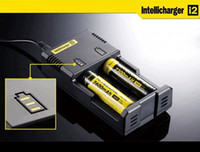 Wholesale Genuine Nitecore I2 Universal Charger for18350 Lithium Battery Intellicharger Dual Slots Batterie Digital Charger