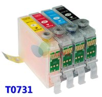 auto reset chips - 1set T0731 T0734 empty refillable ink cartridge for epson CX3900 CX5900 CX4900 CX4905 CX3905 printers Auto reset chip
