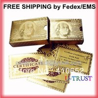 Wholesale Gold foil plated playing cards usd per set by Fedex EMS sets
