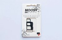 Wholesale Noosy Nano Micro SIM Card In Adapter Eject Pin For Iphone For Iphone S With SIM Card With Retail Package Micro Nano Sim Adapter