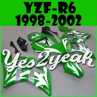 Wholesale New High quality motorcycle fairings free gift Bolts Screws Injecction Molded Fairing Fit YZF R6 Green White Y69Y17