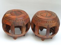 Wholesale Laos red wood mahogany wood furniture ancient mahogany stool stool