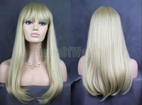 Wholesale White ladies wig long in Europe and mixed with Golden curls NWG0LO61055 WG2