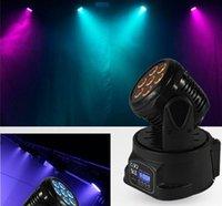 Wholesale ship by FEDEX W IN1 RGBW MINI LED Moving Head Light LED effect light Wash Light disco party DJ Light christmas light