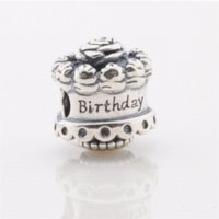 Cheap Fashion New 2015 cake charm 925 Sterling silver jewelry charms Fit bracelet Diy birthday gift to baby mom beads wholesale LW399
