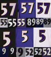 Wholesale Ravens Joe Flacco Terrell Suggs Steve Smith Justin Tucker CJ Mosley Name Numbers Stitched Sewed Mens Jerseys