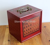 Wholesale Small dormitory melamine mahjong tourism English antique hand carry box five layer