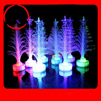 Wholesale ON sale newest Christmas gift LED colorful changed color Fiber Tree Christmas decoration Christmas party children gift