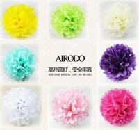 Wholesale 10 cm DIY Ball Flower Honeycomb Tissue Wedding Christmas creative Birthday Party Decor Window Decoration Garland Colorful Paper Gifts