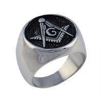 masonic - New mourning rings stainless steel u shaped style of men s religious oil processing stainless steel Masonic Memorial religious rings