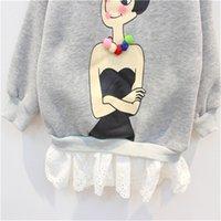 add balls - Qiu dong s cute ball ball girl lace long sleeve add wool fleece