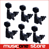Wholesale 6R Black Guitar Tuning Pegs Tuners Machine Heads For Acoustic Electric Guitar MU0210