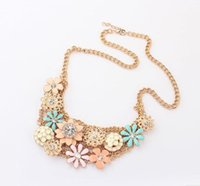 Cheap Min. order is $9 (can mix style) Fashion popular multi-layer small sweet fresh diamond daisy gentlewomen flower necklace