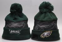 animal eagles - New Eagles Beanie Caps Brand Football Team Skull Caps Cheap Sports Wool Beanie Hats Warm Winter Caps Team Hats