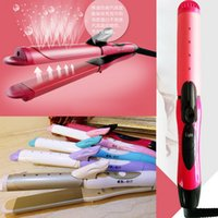 Wholesale New Profession in Curler Straightener Hot Fast Heated Ceramic Wave Band Hair Beauty Tool
