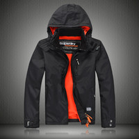 arctic fleece - Fall super men s Pop Zip collar Arctic Windcheater waterproof mens jacket with fleece