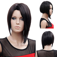 Wholesale Rihanna Style Long Straight Black B Color Synthetic Hair Wigs Full wigs Fashion Bob Wig Party Wig