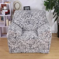 Wholesale 20 colors Flower Printing Textured Couch Spendex Stretch Sofa Cover Big Elasticity Couch Cover Loveseat SOFA Funiture Cover Gray Printing