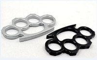 Wholesale super cheap Thin Steel Brass knuckle dusters COLOR Silver Black Self defense equipment