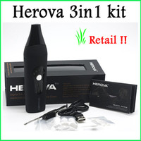 Wholesale Retail New Herova in Vaporizer E Ceramic Kit Dry Herb Vaporizers Kit Or Wax Available Wax Vaporizer Pen Kit
