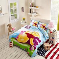 Wholesale Vivid Yellow Winnie Pooh Duvet The Characters Of Winnie Pooh Bedding Cot Bed Duvet