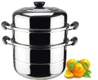 Wholesale hot sale cm Stainless Steel Steamer Pot Stainless Steel Sauce Pot Stainless Steel Stock Pot cooking pot