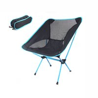beach chair wholesale - Four colors Camping Portable Folding Stool Chair Seat for Outdoor Fishing Festival Picnic BBQ Beach with Bag Black H10370