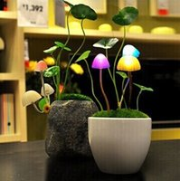 best avatars - LED light control induction Avatar mushroom lamp night light colorful creative best gift saving power bedside lamp