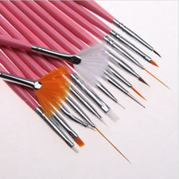 Wholesale Hot Sale Pink Nail Art Decorations Brush Set Tools Professional Painting Pen for False Nail Tips UV Nail Gel Polish