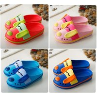 Wholesale Cute Summer Cartoon Dog Shape Children s Shoes Non slip slippers Kids