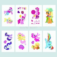 Wholesale DHL Free x3cm ECO FREINDLE My Little Pony Tattoo Sticker Temporary Waterproof Tattoo Stickers Fast Shipping