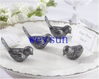 Wholesale DHL Freeshipping Antiqued love Bird Place Card Holder wedding party table decor bridal shower favor favours gift