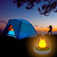 animal sensors - Lovely LED Birdcage Totoro Light USB Cartoon Night Light Touch Sensor Animal Hanglamp Baby Child Nightlight Bedroom Lamp Home Decor Sale