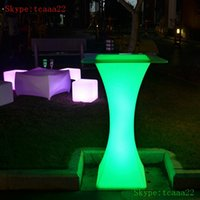 led bar table - acrylic material and bar led illuminated cocktail table