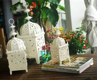 Wholesale Nordic Iron hollow candlestick bar style wrought iron lantern wedding lantern Candlestick Crafts Decoration