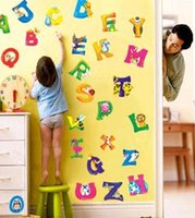 alphabet wall decals - retail A Z Alphabet Animals Wall Sticker Decals Decor Kids Nursery Mural Vinyl UKLXL