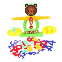balance beam scale - Balance Beam Scale Measuring w Bear Weights Numbers Preschool Kids Toy