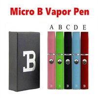 Wholesale 2016NEW Micro B Pen dry herbal vaporizer kit Snoop dogg Wax Vaporizer Pens for Dry Herb with Gift Box Mulit Colors
