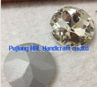 achat en gros de rond de cristal 27mm--Ronde de gros cristaux de verre Crystal Clear Fantaisie Bijoux de pierre strass perles 8MM 10MM 12MM 14MM 16MM 18MM 20MM 25MM 27MM 35MM