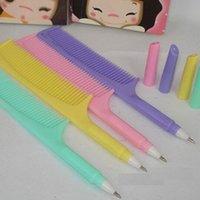 design plastic comb - Sweet Comb design ballpoint pen mm Blue Lovely ball pen school office supplies dandys
