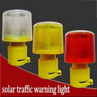 alarms signal power - 4LED Solar Powered Traffic Warning Light white yellow red LED Solar Safety Signal Beacon Alarm Lamp