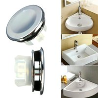 Wholesale Bathroom Wash Basin Overflow Trim Ring Double Ring Overflow Fitting Silve order lt no track
