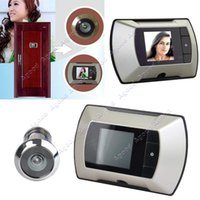 Wholesale New hot quot Wide Angle Electronic Viewer Cat Eye Doorbell HD door Camera Peephole SV004629